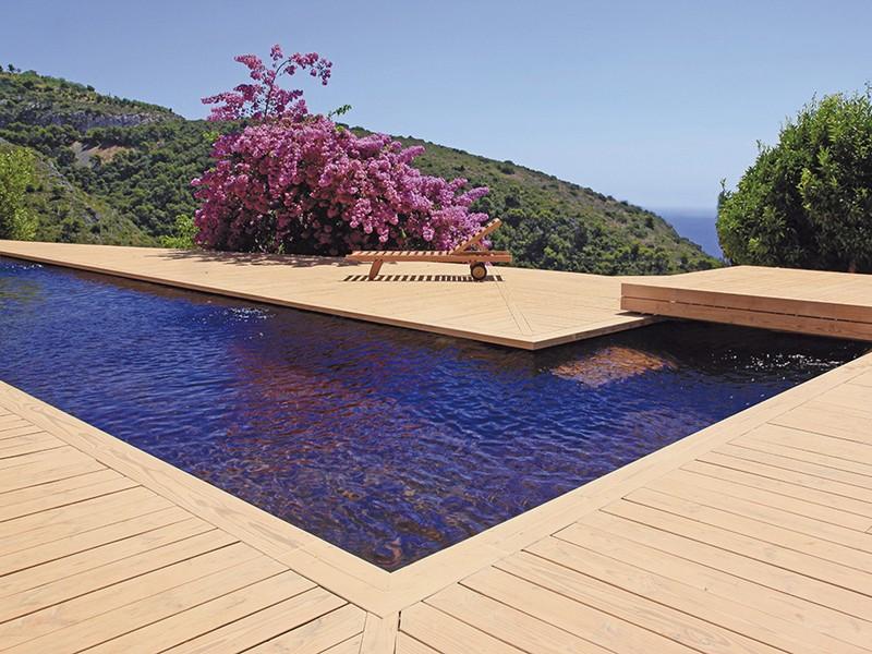 piscine avec terrasse-O2Pool-bois