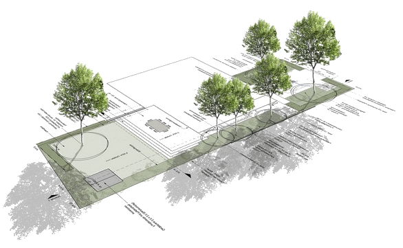Plan d'un futur jardin